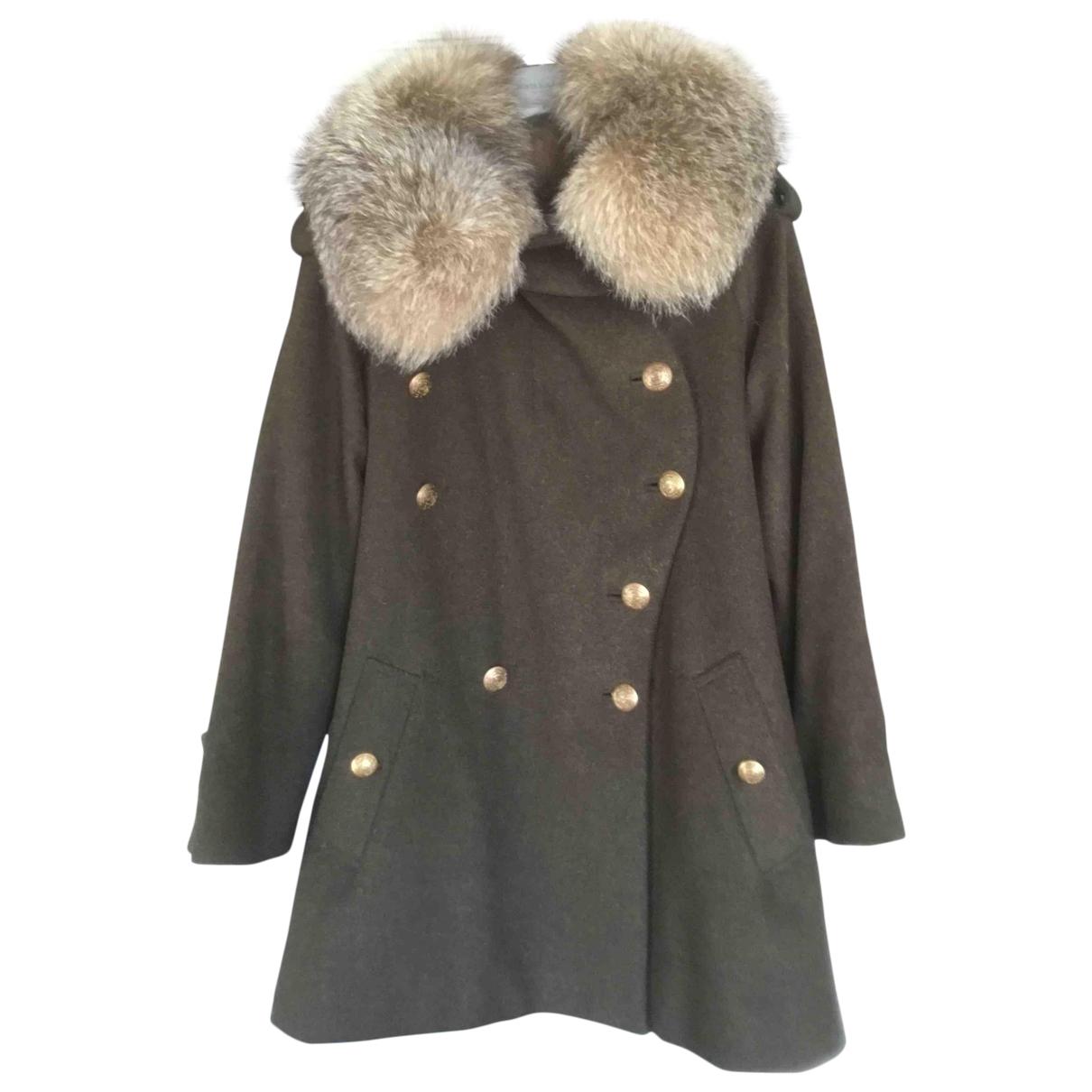 Army \N Maentel in  Khaki Wolle