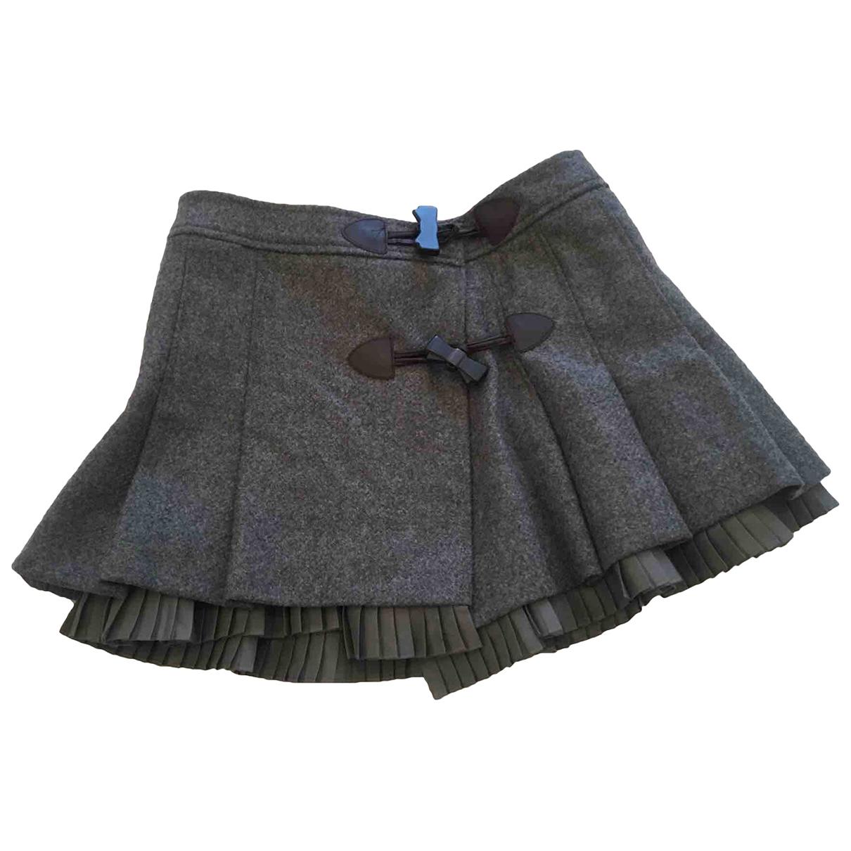 Red Valentino Garavani - Jupe   pour femme en laine - gris