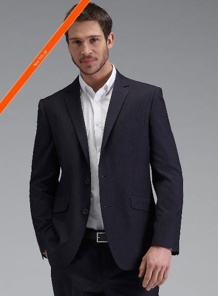 Mens Navy Tonic Slim Fit Suit 2Button