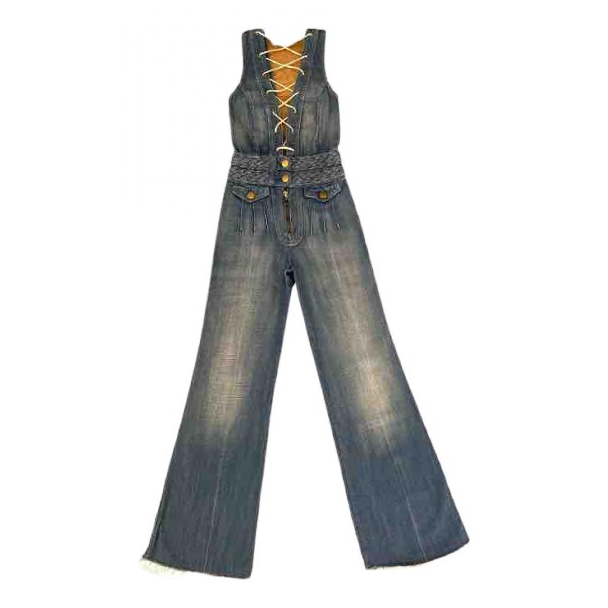 Chloe - Combinaison   pour femme en denim - bleu