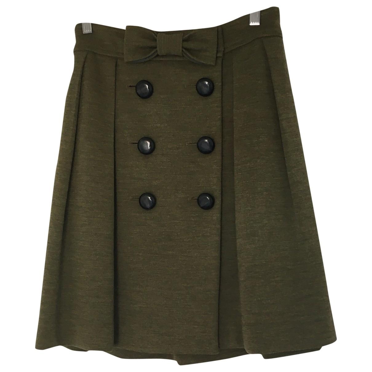 Orla Kiely \N Green Wool skirt for Women 12 UK