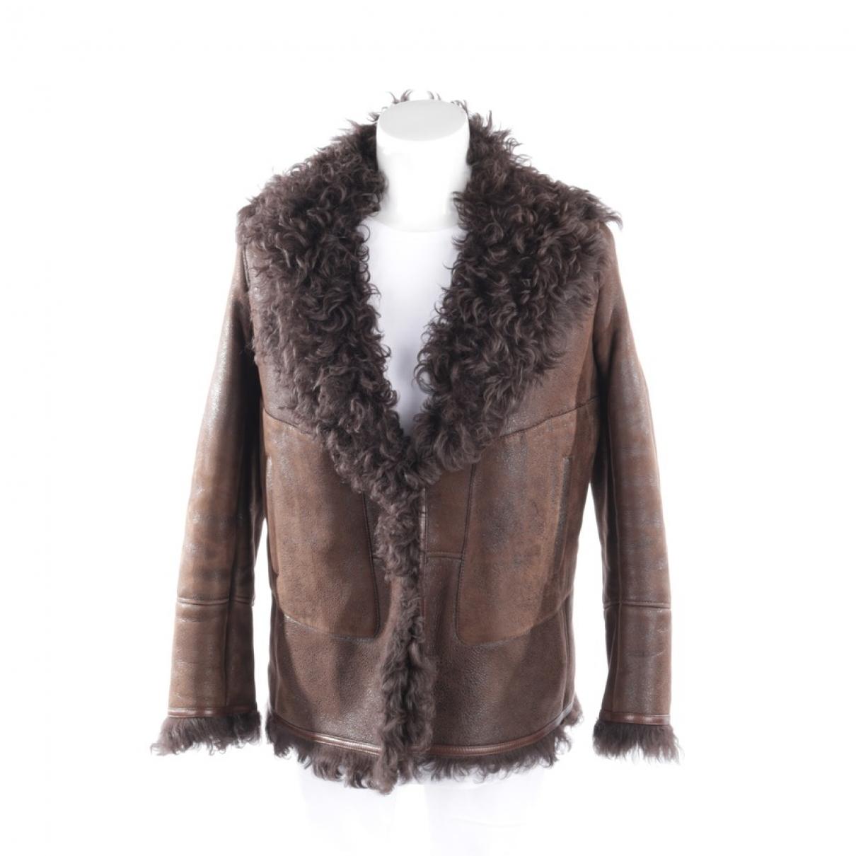 Celine - Veste   pour femme en cuir - marron