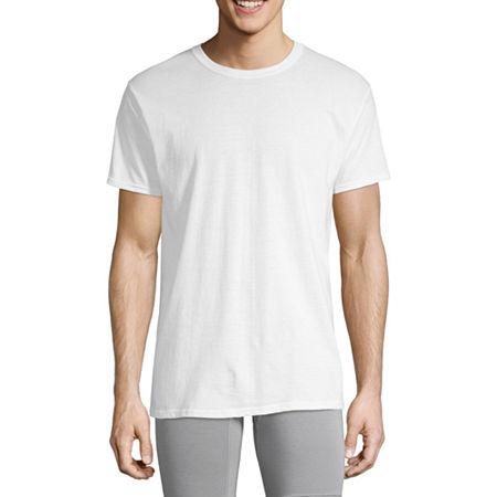 Hanes Mens FreshIQ ComfortSoft Crewneck Undershirt 4-Pack , Small , White