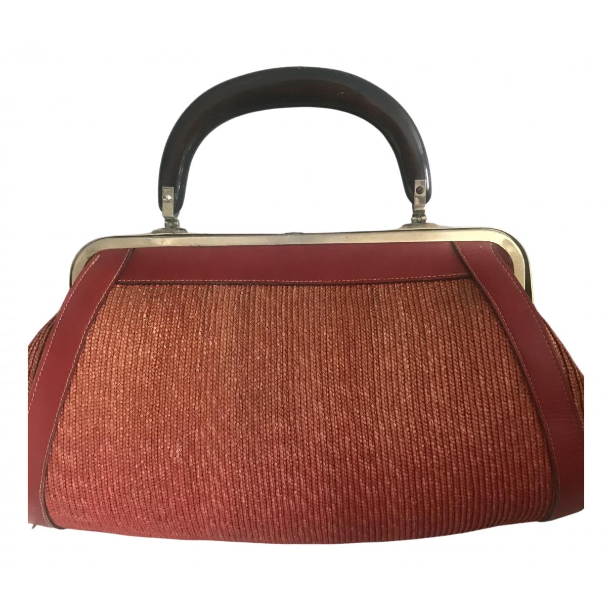 Non Signé / Unsigned \N Orange Wicker handbag for Women \N