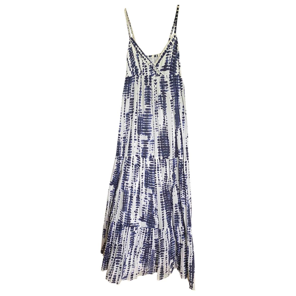 Non Signé / Unsigned Hippie Chic Blue Cotton dress for Women 36 FR