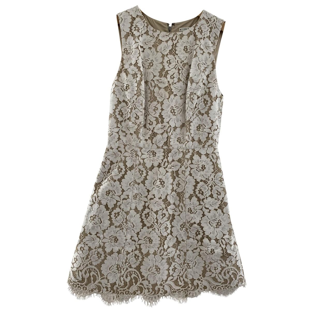 Alice & Olivia \N Beige Lace dress for Women 2 US