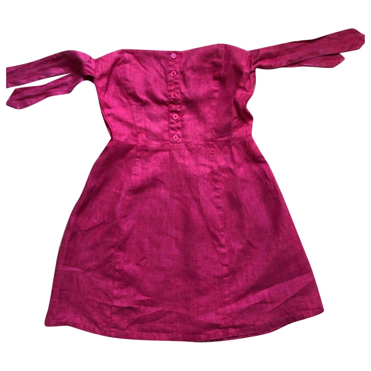 Reformation - Robe   pour femme en lin - rouge