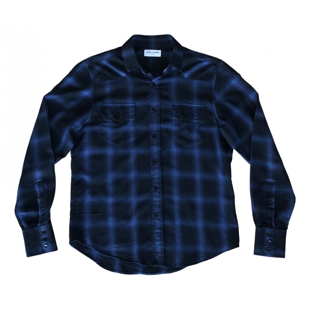 Saint Laurent \N Hemden in  Blau Baumwolle