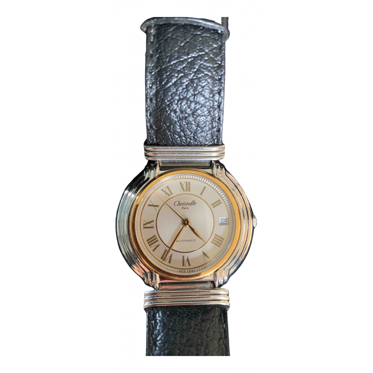 Christofle \N Black Steel watch for Women \N
