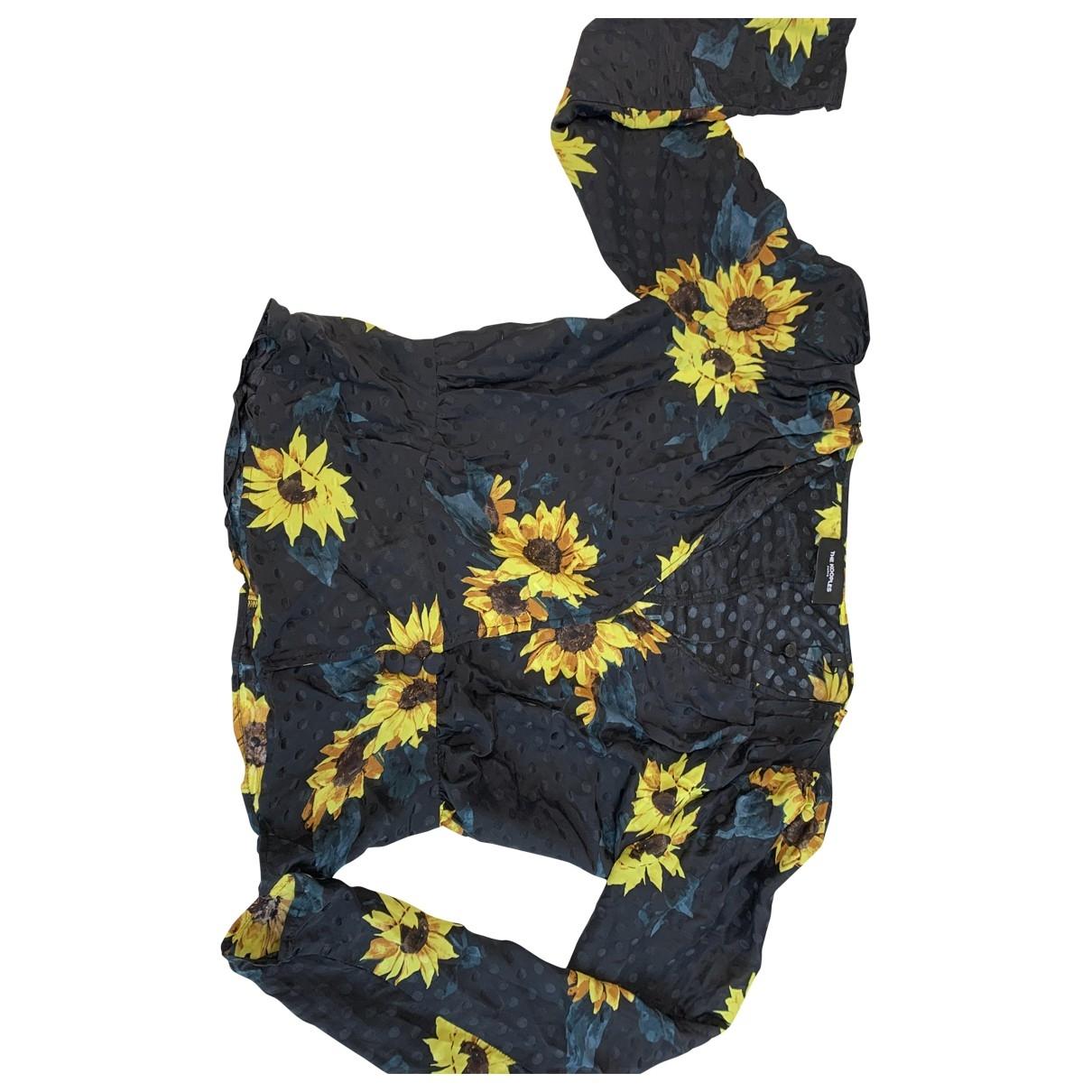 The Kooples - Pull   pour femme en soie - jaune