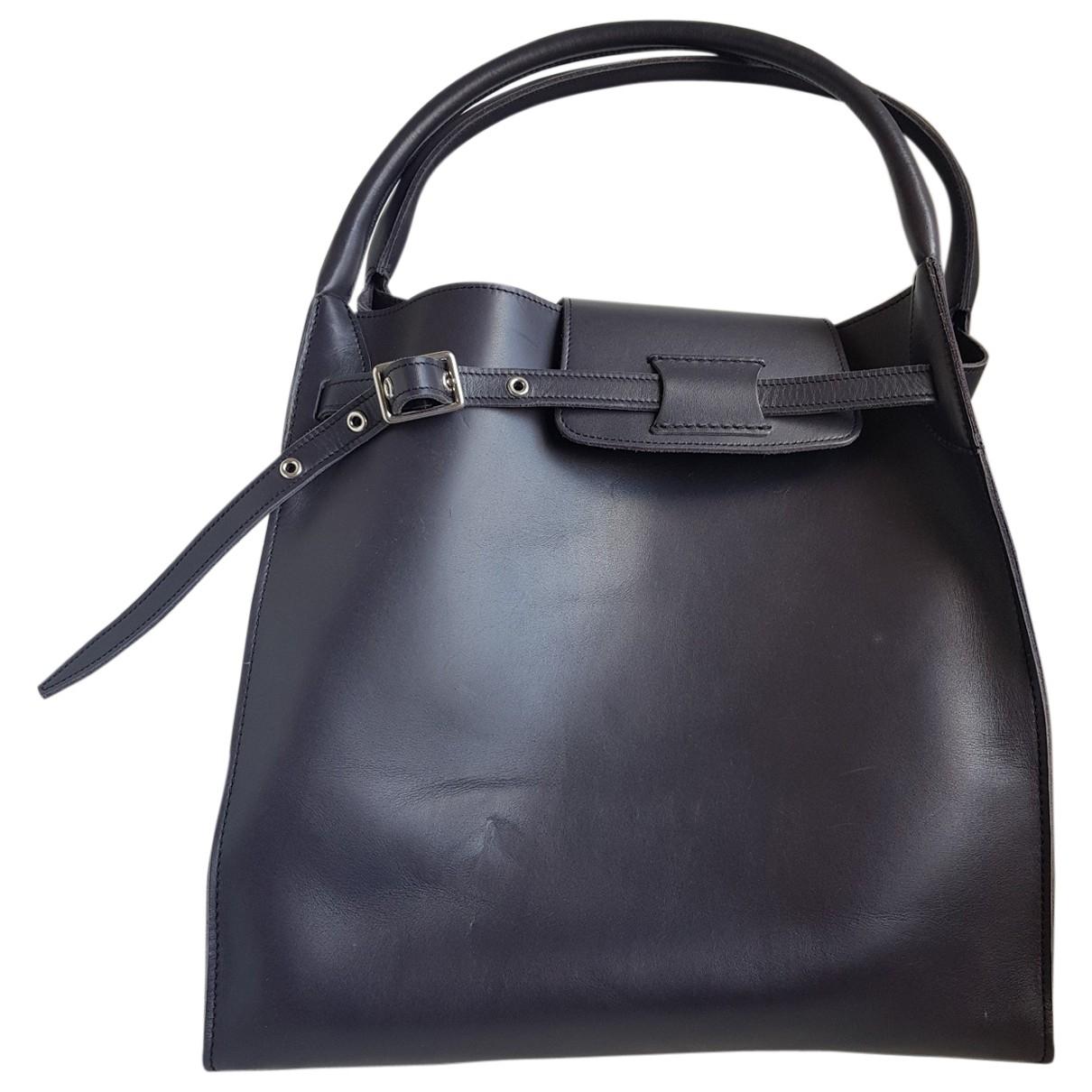 Celine Big Bag Handtasche in  Anthrazit Leder