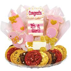 It's a Girl Gift Basket   Baby Girl Cookies