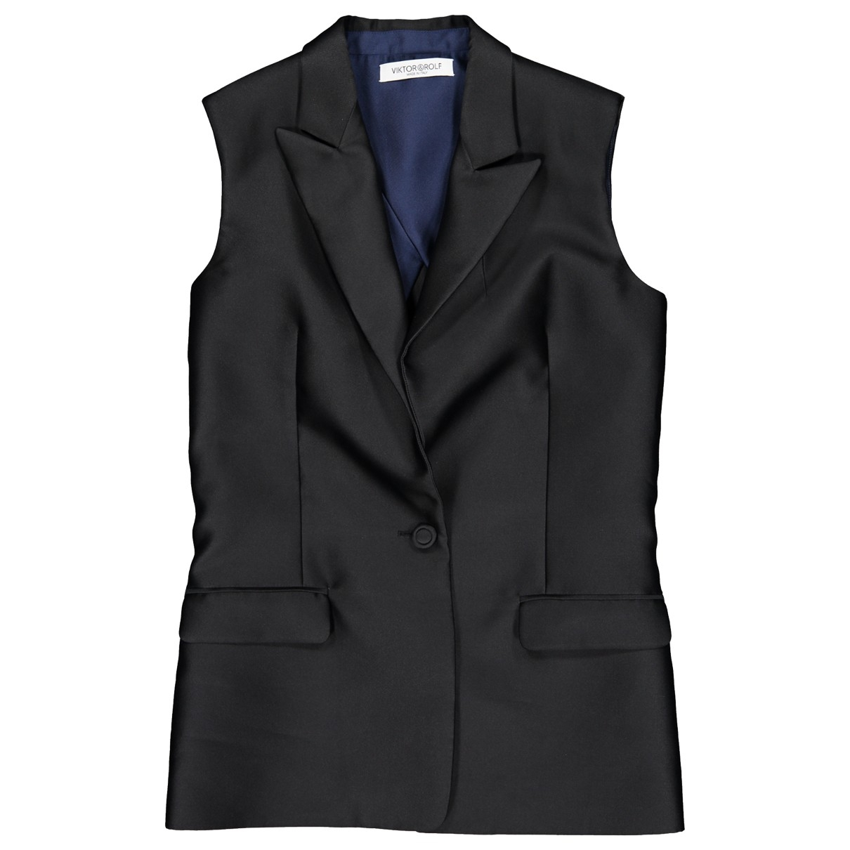 Viktor & Rolf \N Black Silk jacket for Women 40 IT