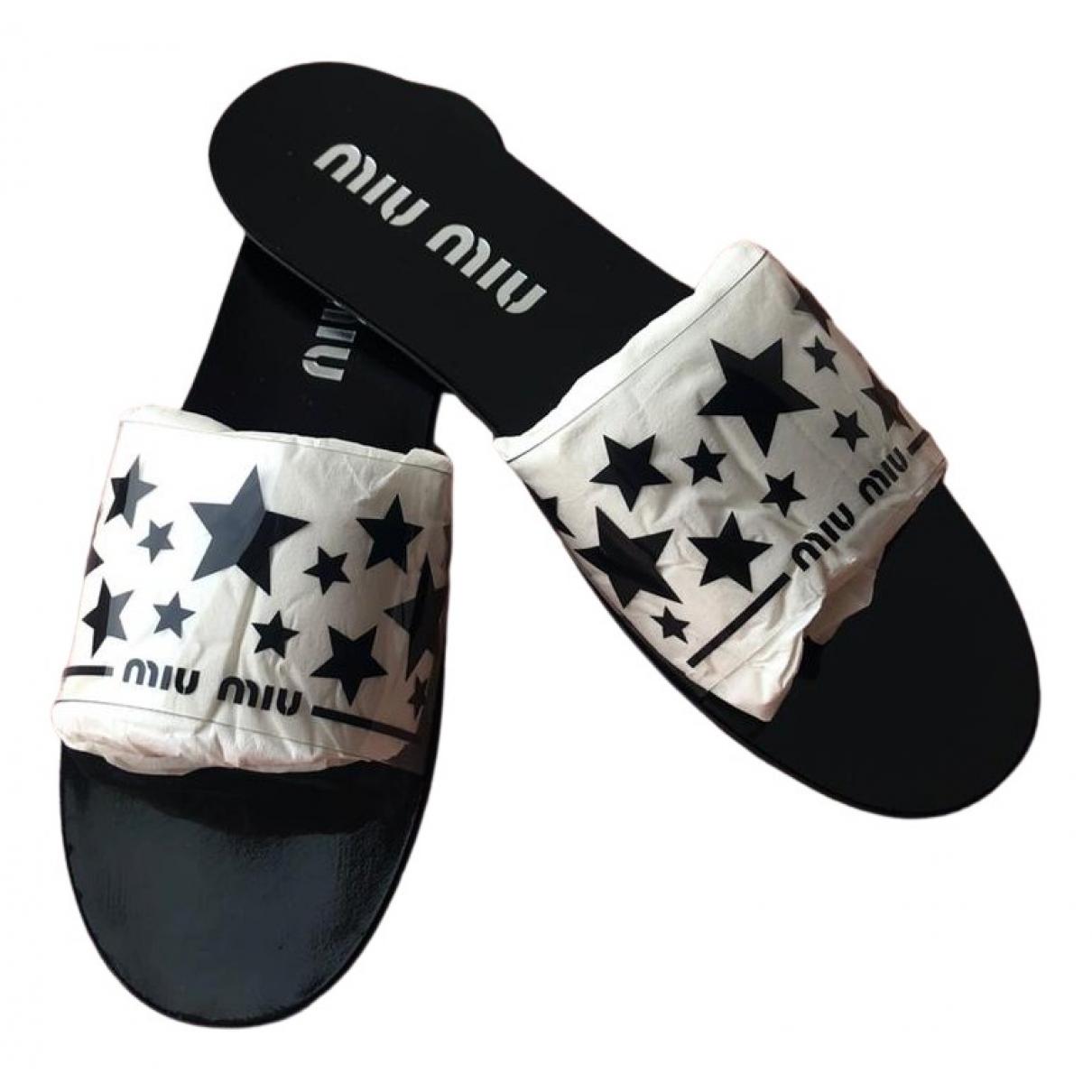 Miu Miu N Black Sandals for Women 40 EU