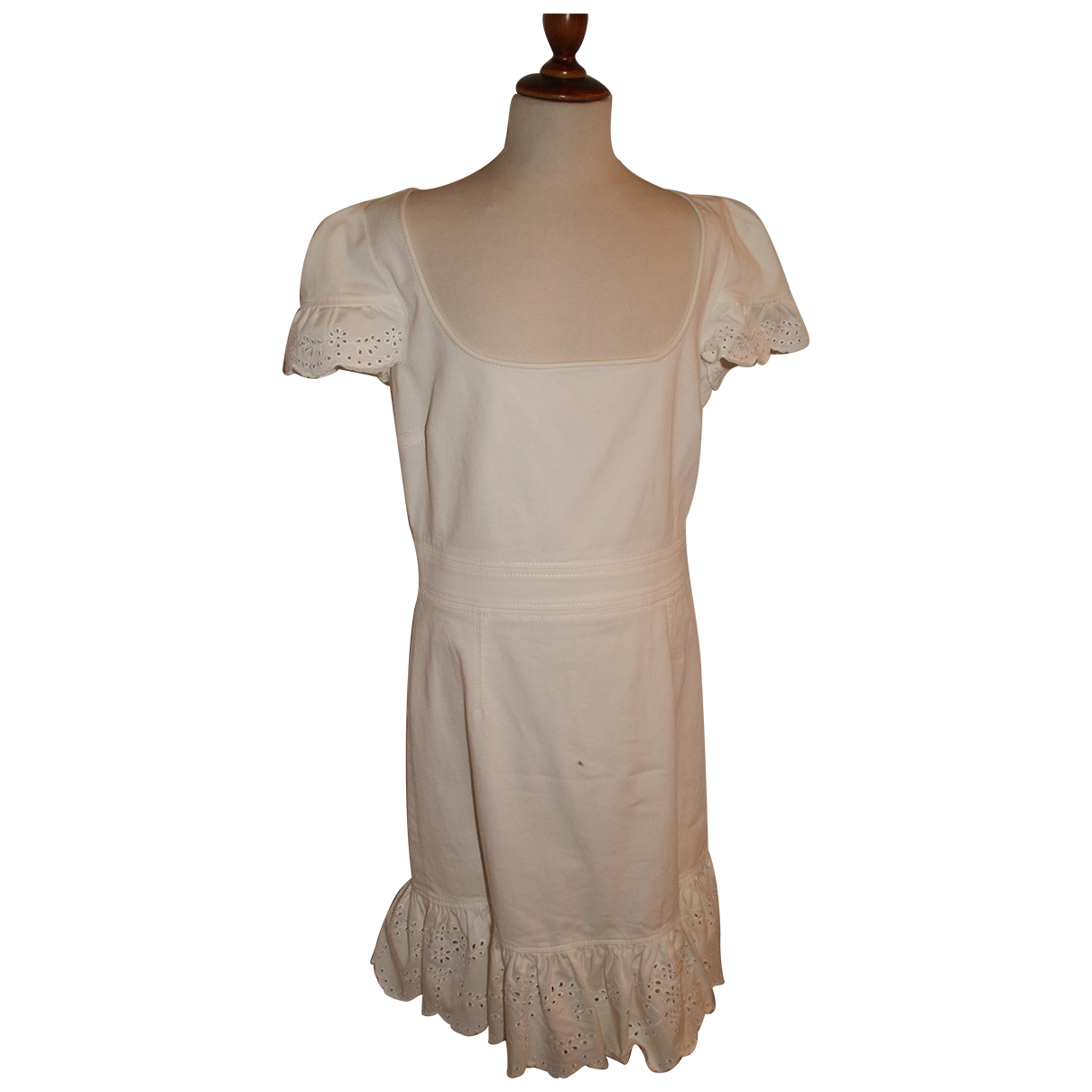 Red Valentino Garavani - Robe   pour femme en coton - blanc