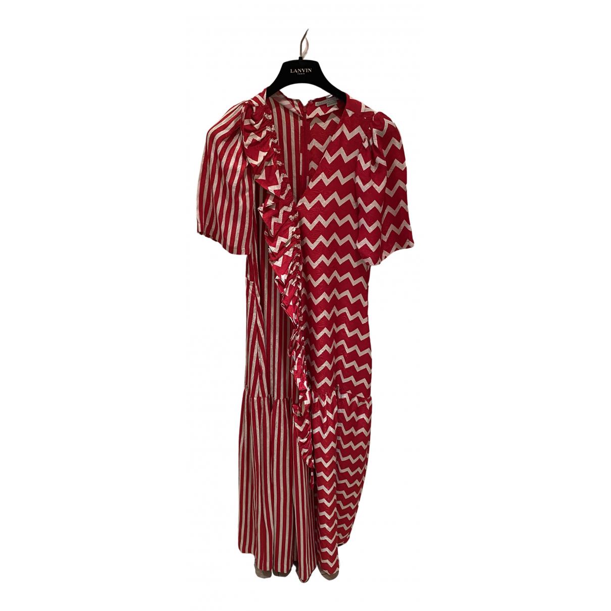 Stella Mccartney \N Kleid in  Rot Seide