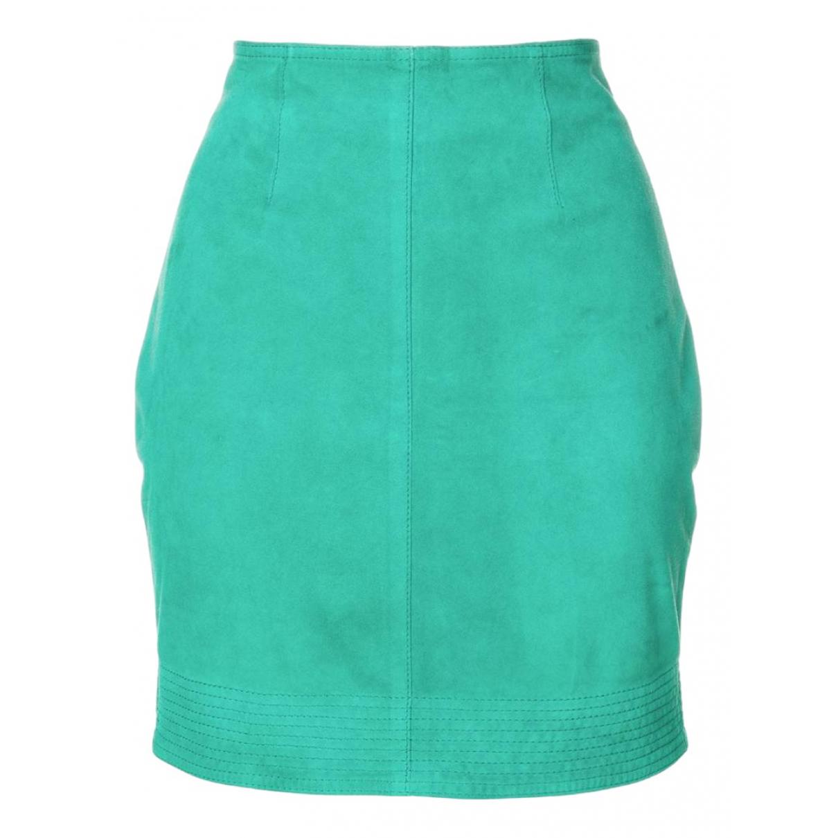 Versus N Green Suede skirt for Women 44 IT