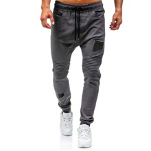Men Patched Plicated Cargo Pants