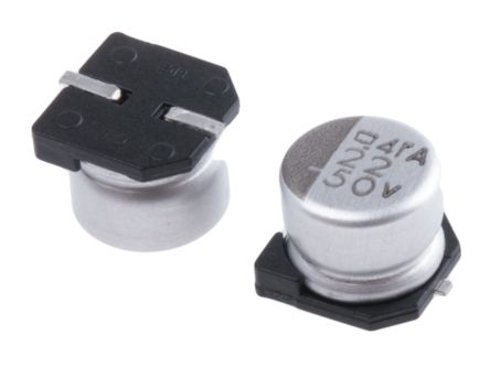 Nippon Chemi-Con 22μF Electrolytic Capacitor 50V dc, Surface Mount - EMVA500ADA220MF55G (10)