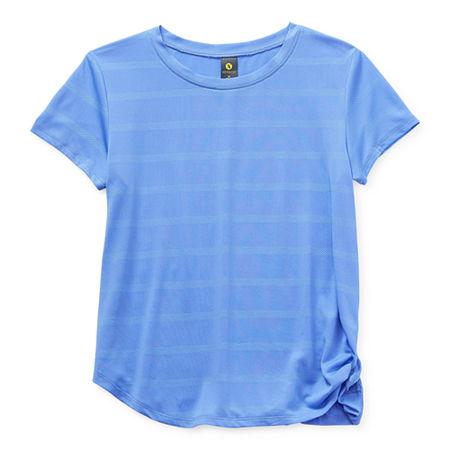 Xersion Little & Big Girls Round Neck Short Sleeve T-Shirt, 3x-large (22.5) Plus , Purple