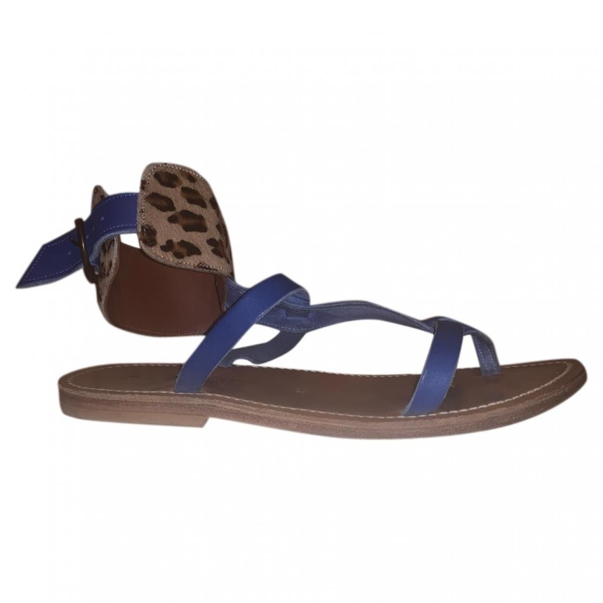 K Jacques - Sandales Caravelle pour femme en cuir - bleu