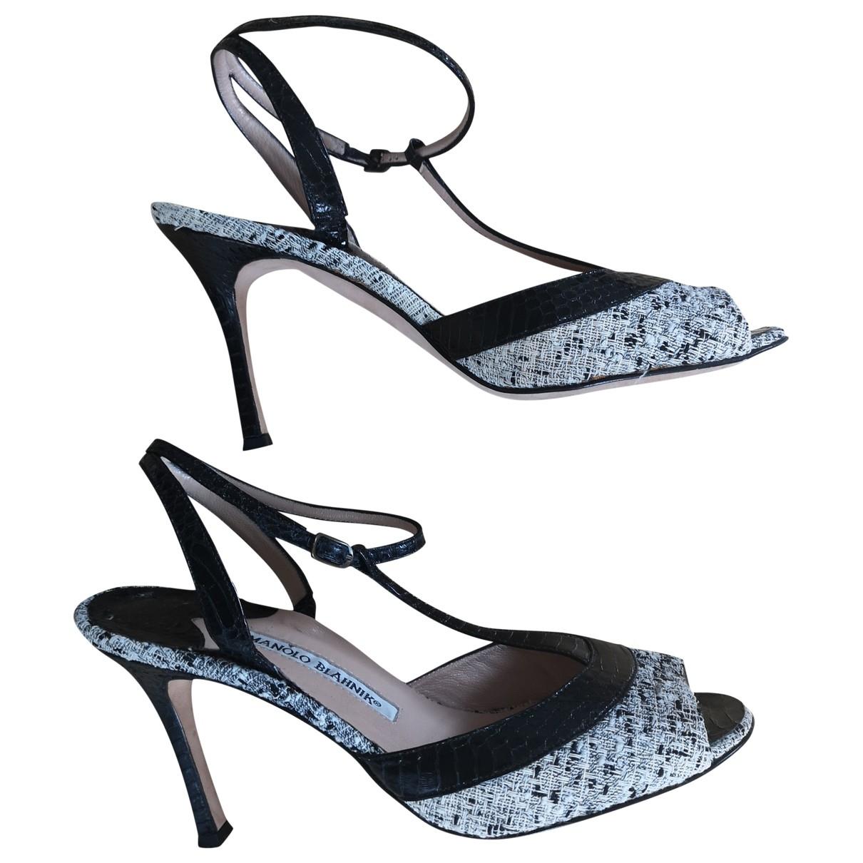 Sandalias de Cuero Manolo Blahnik