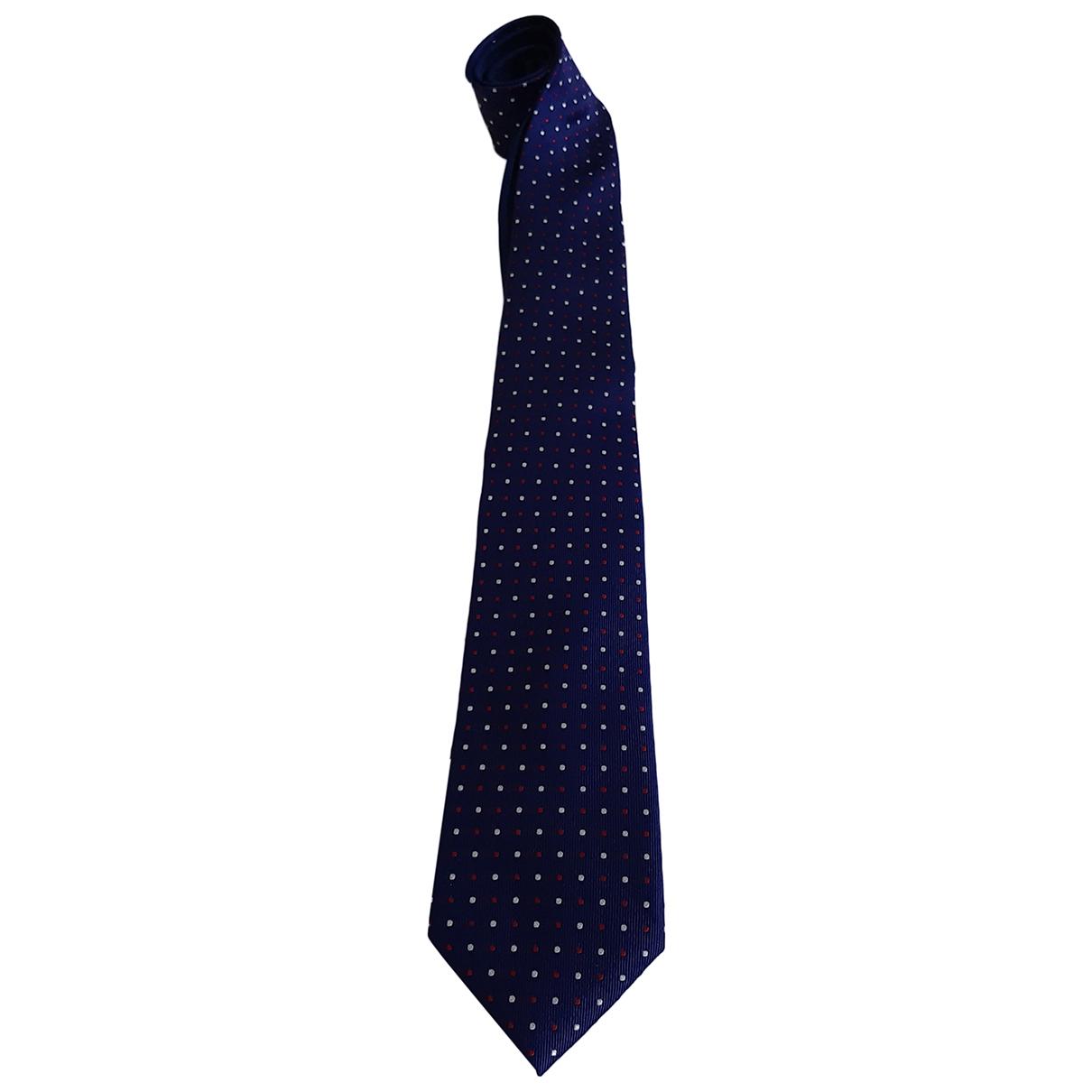 Tommy Hilfiger \N Krawatten in  Blau Seide