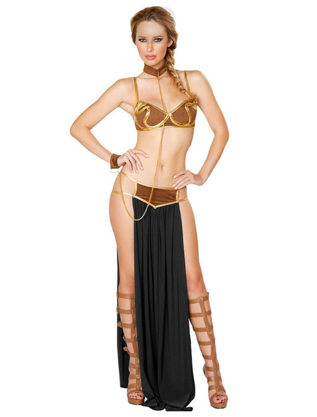 Milanoo Arabian Costume Halloween Women Sexy Top And Skirt Outfit