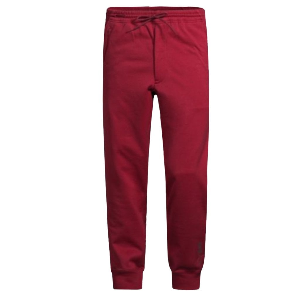 Y-3 Signature Logo Joggers Burgundy Colour: GREEN, Size: LARGE
