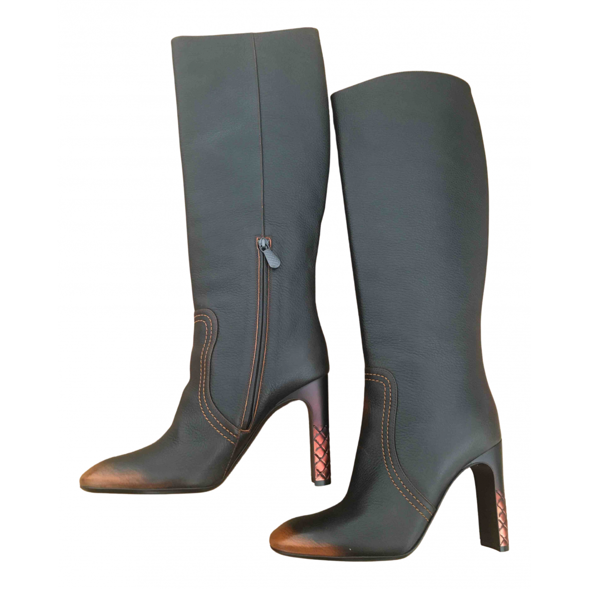 Bottega Veneta - Bottes   pour femme en cuir - marron