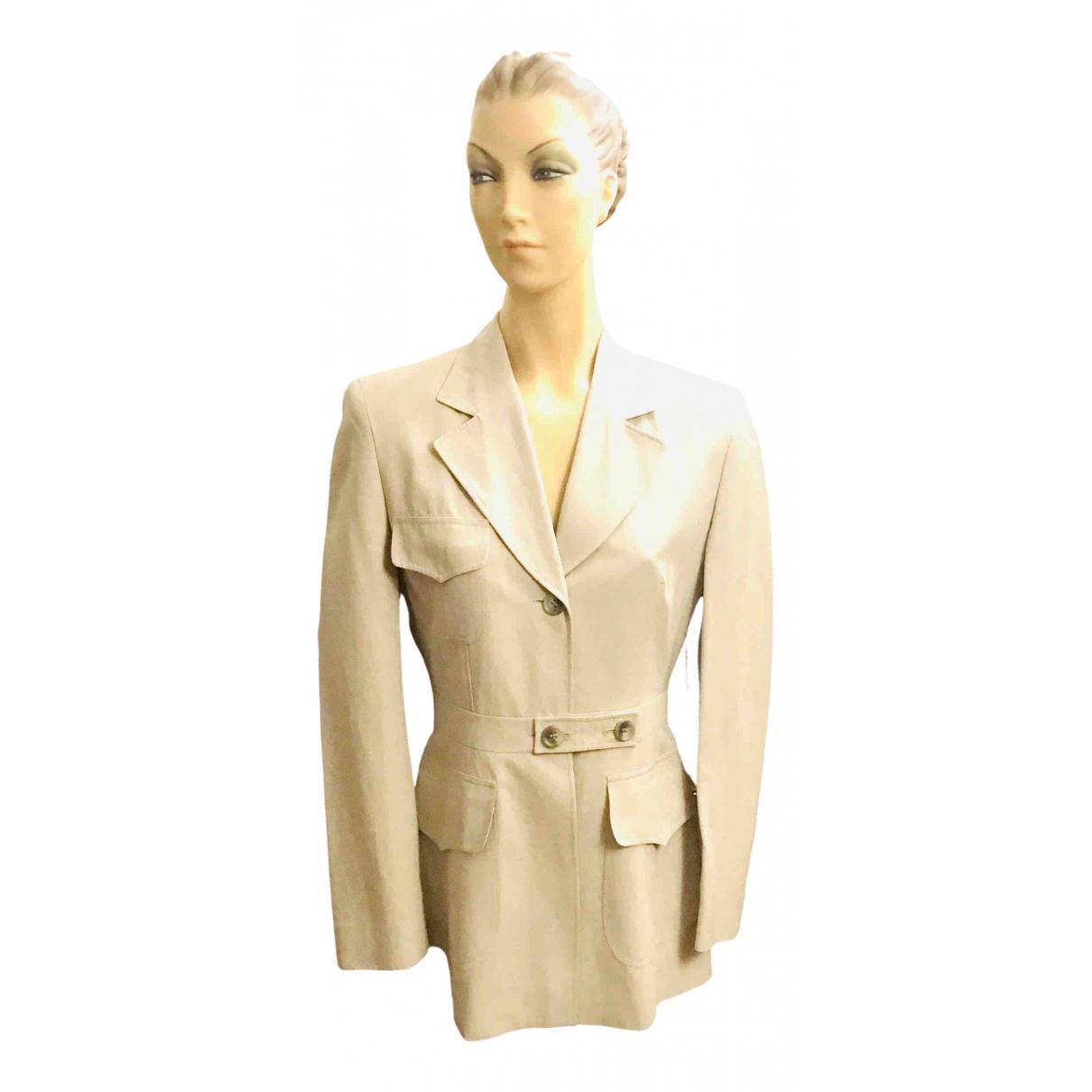 Marc Cain - Veste   pour femme en coton - beige