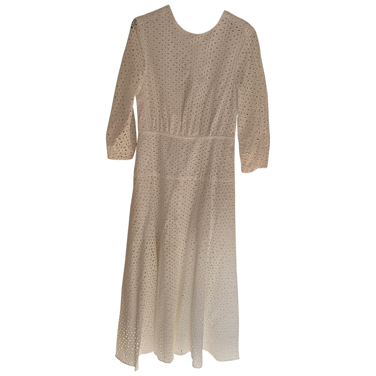 Les Reveries \N Kleid in  Weiss Baumwolle