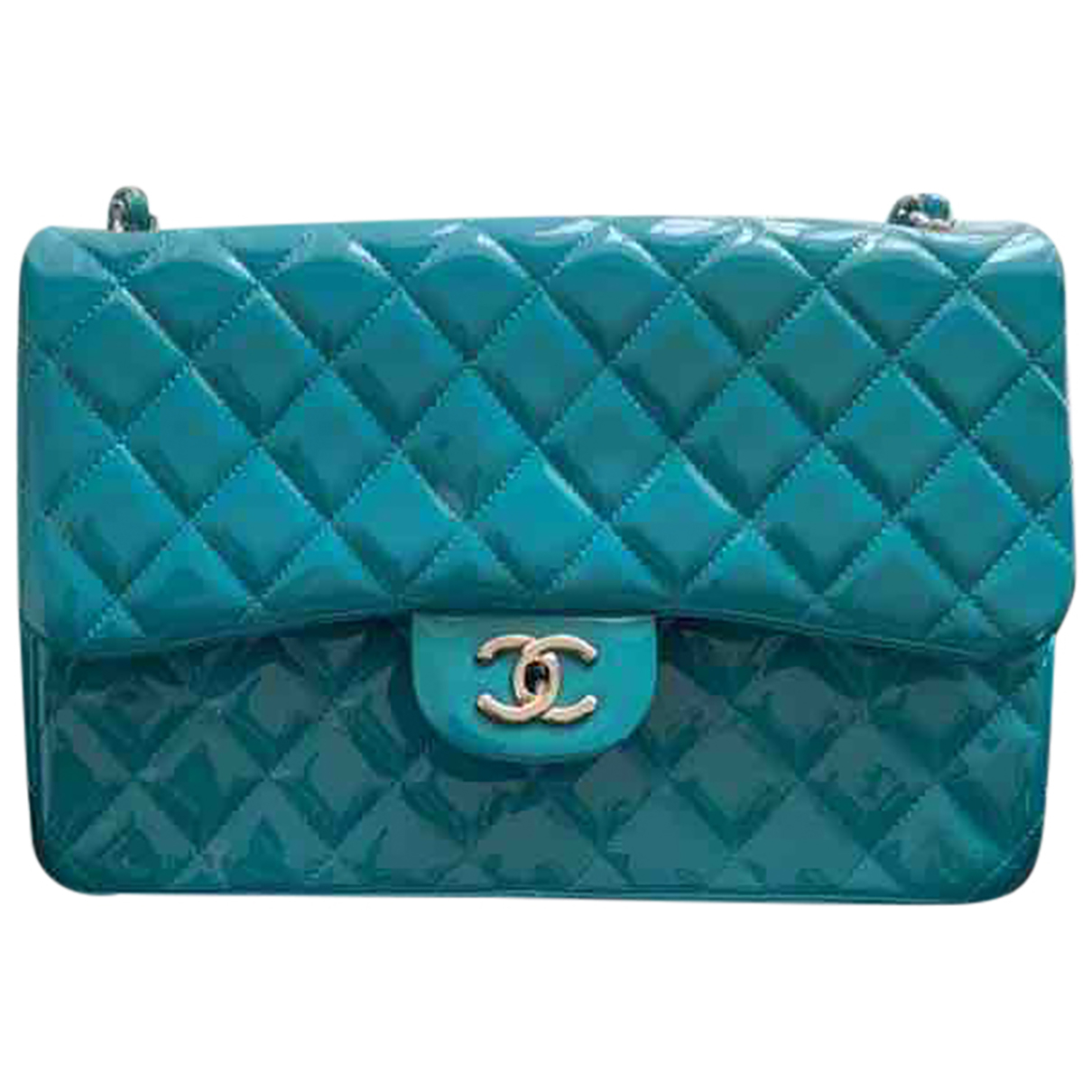 Chanel Timeless/Classique Blue Patent leather handbag for Women N