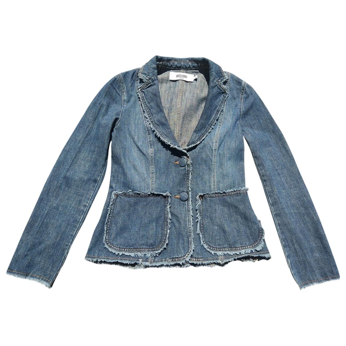 Moschino \N Jacke in  Blau Denim - Jeans
