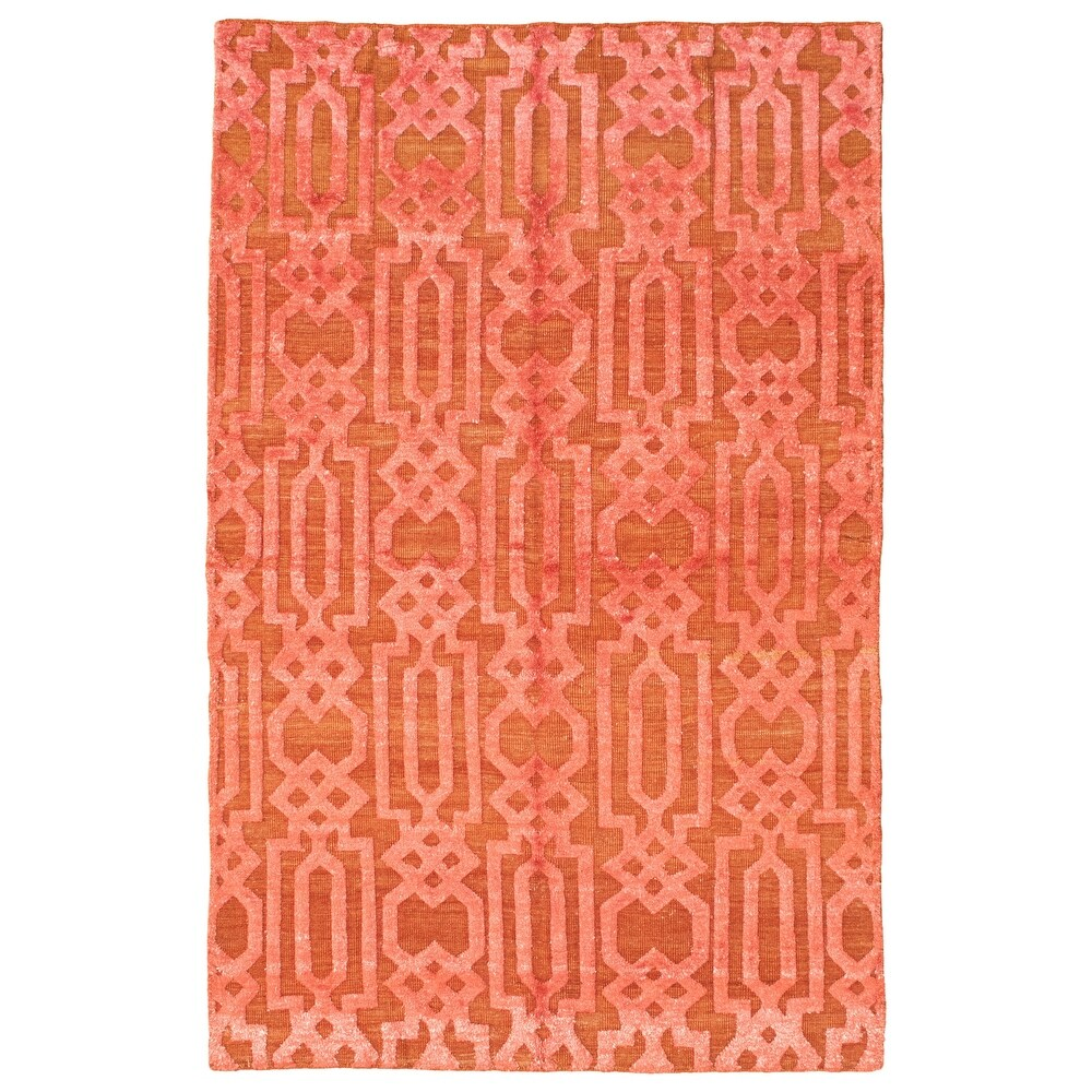 ECARPETGALLERY  Hand-knotted Tangier Red  Rug - 4'11 x 7'11 (4'11 x 7'11 - Red)