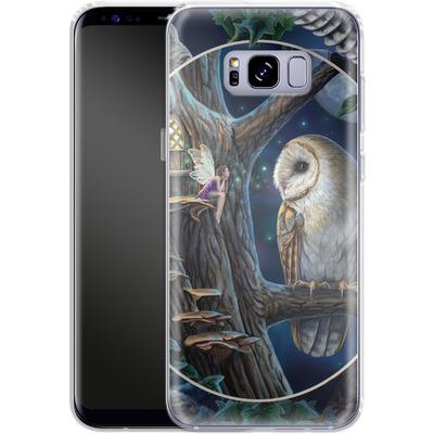 Samsung Galaxy S8 Plus Silikon Handyhuelle - Owl Montage von Lisa Parker