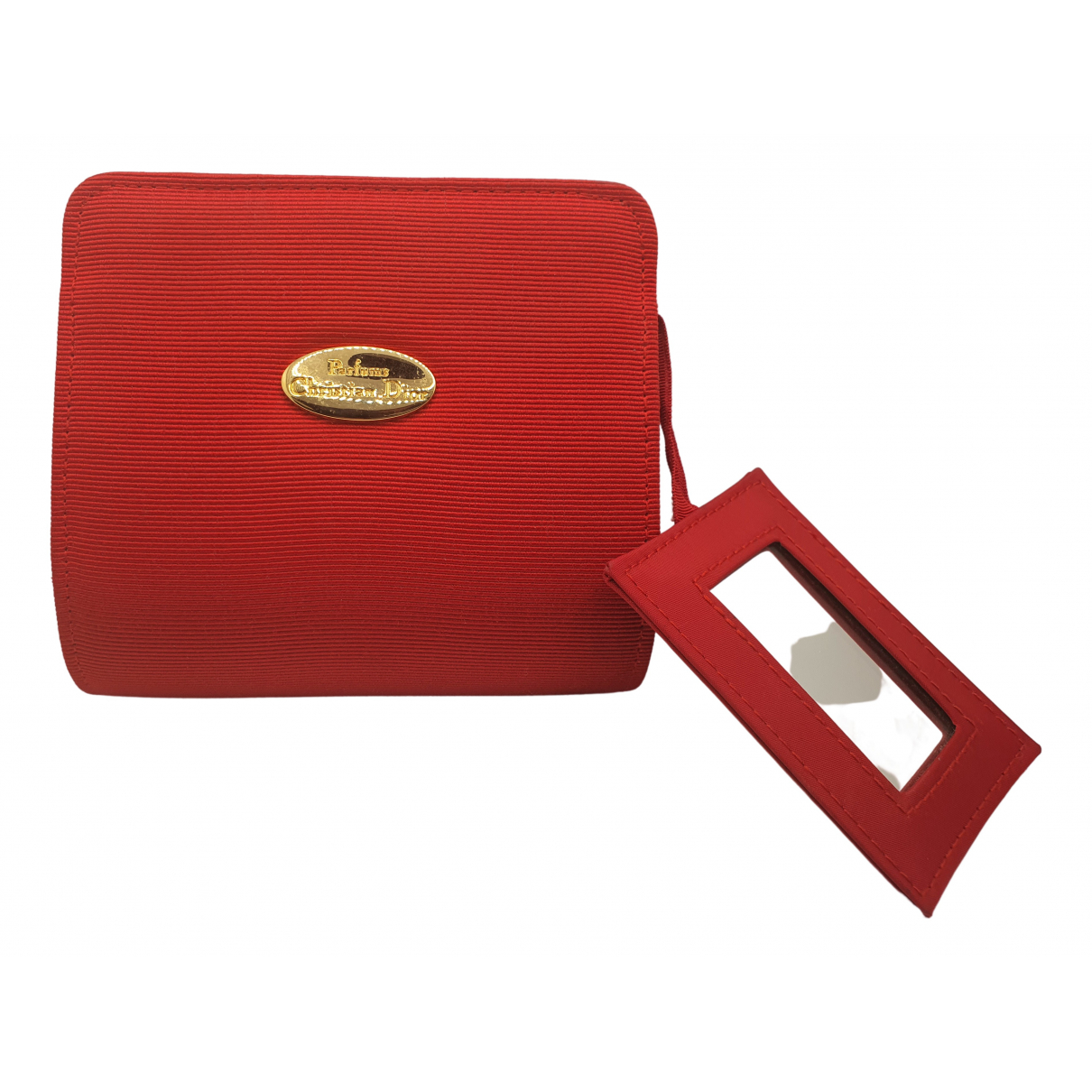 Dior \N Red Cotton Purses, wallet & cases for Women \N