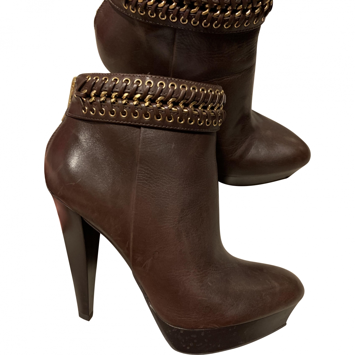 Stella Luna \N Brown Leather Ankle boots for Women 37 EU