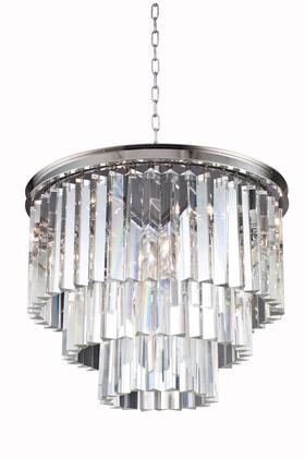 1201D20PN/RC 1201 Sydney Collection Pendent Lamp D: 20 H: 20.5 Lt: 6 Polished nickel Finish (Royal Cut