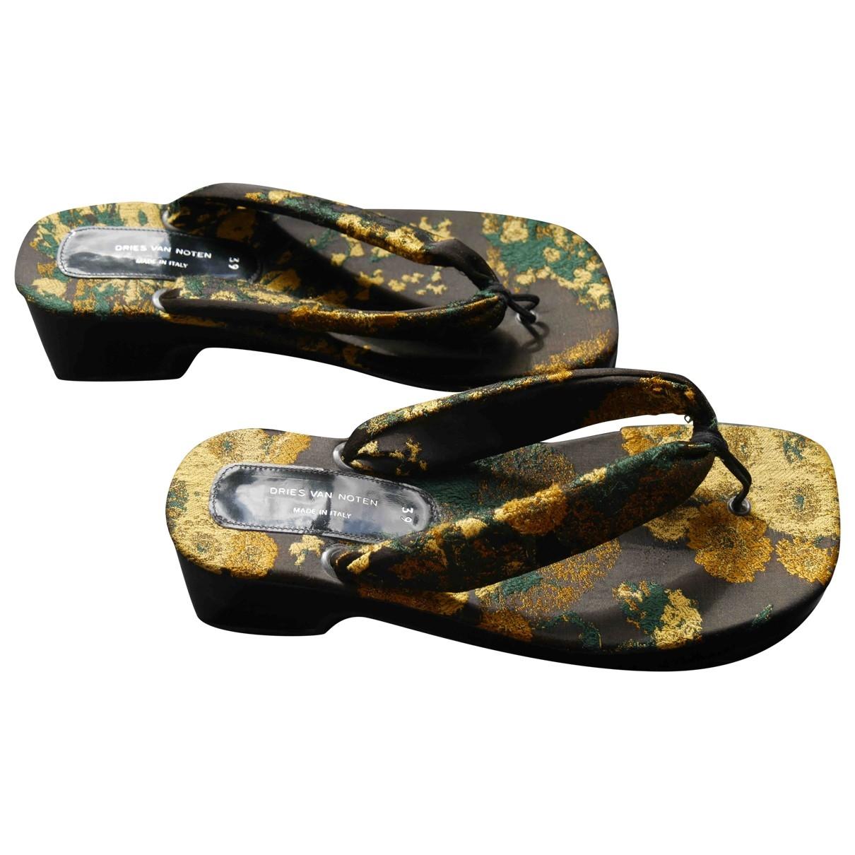 Dries Van Noten \N Multicolour Cloth Sandals for Women 39 EU