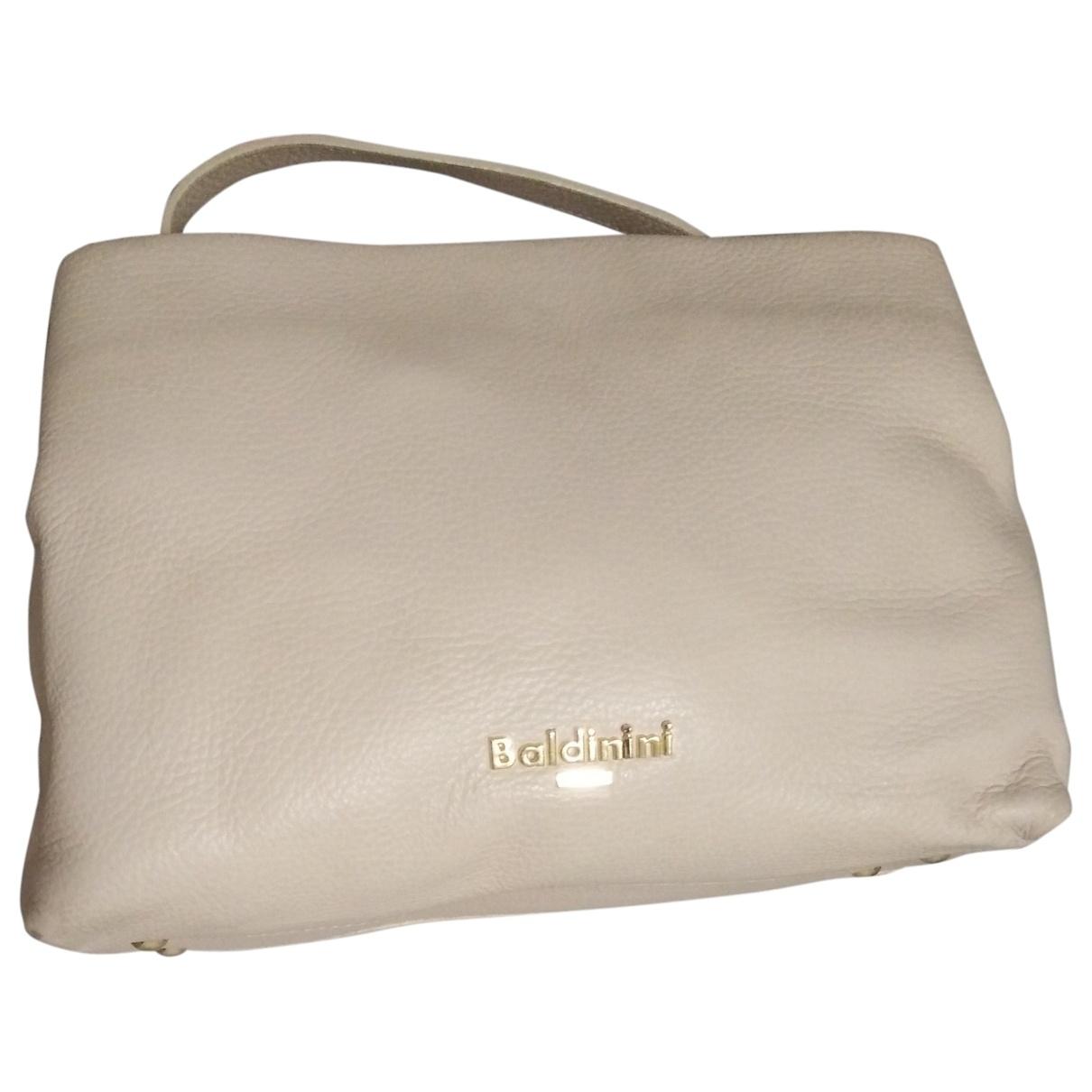 Baldinini \N Handtasche in  Beige Leder