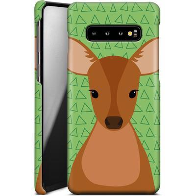 Samsung Galaxy S10 Plus Smartphone Huelle - Deer on Green von caseable Designs