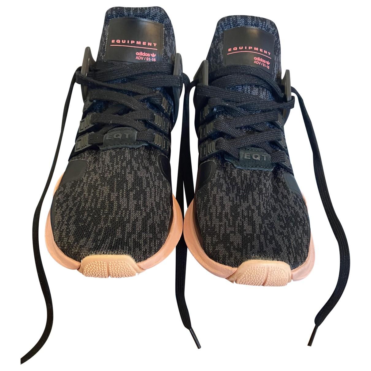 Adidas EQT Support Sneakers in  Schwarz Leinen