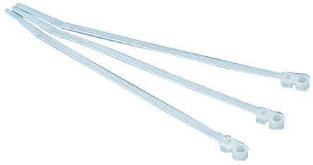 HellermannTyton , T30MR Series Natural Nylon Cable Tie, 160mm x 3.5 mm