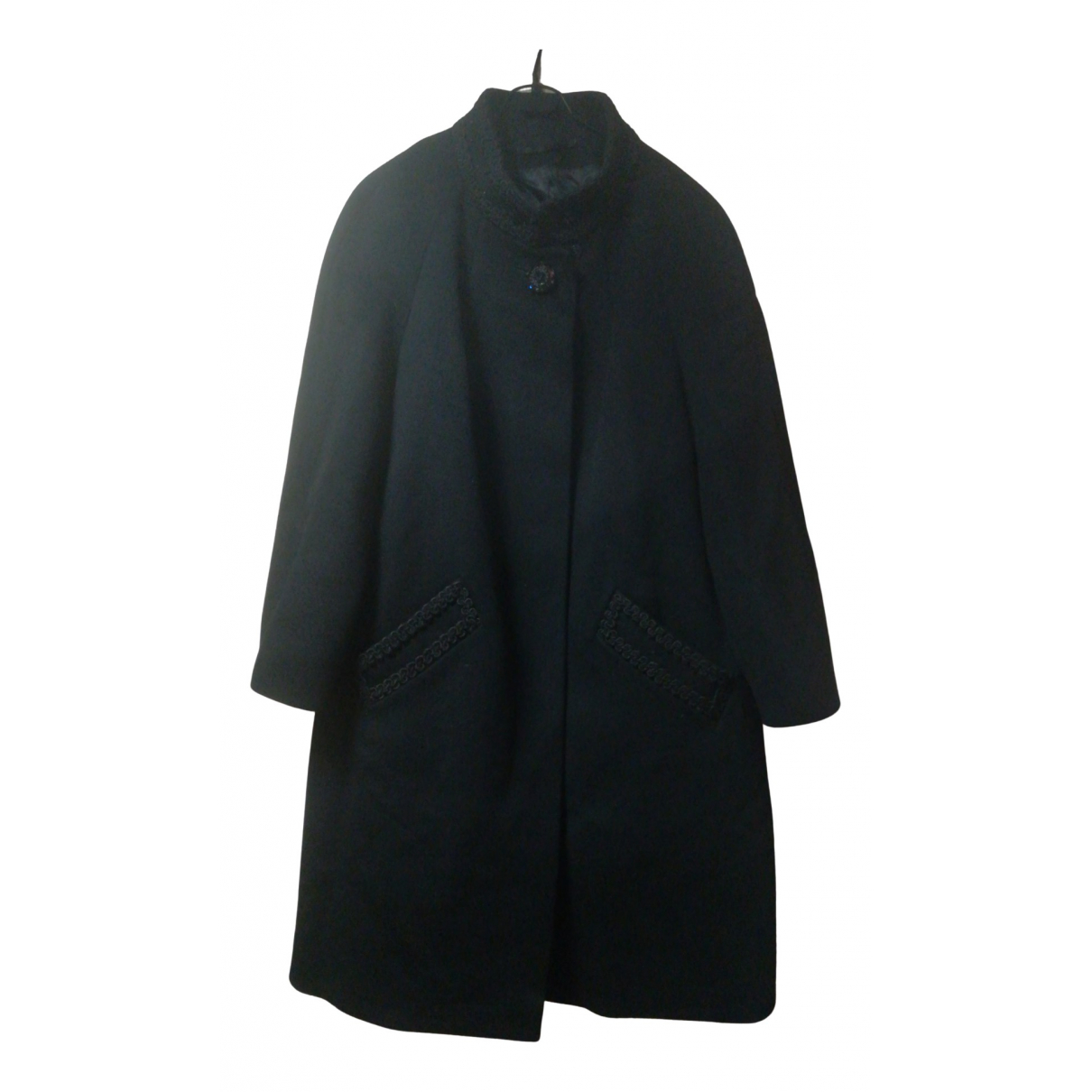 Non Signé / Unsigned N Black Wool coat for Women L International