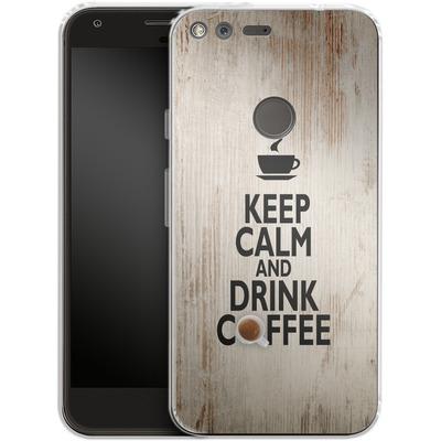 Google Pixel XL Silikon Handyhuelle - Drink Coffee von caseable Designs