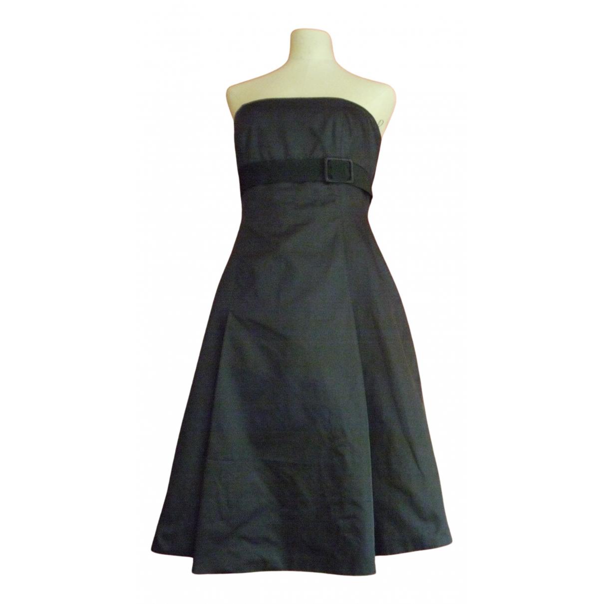 Max Mara \N Kleid in  Schwarz Seide