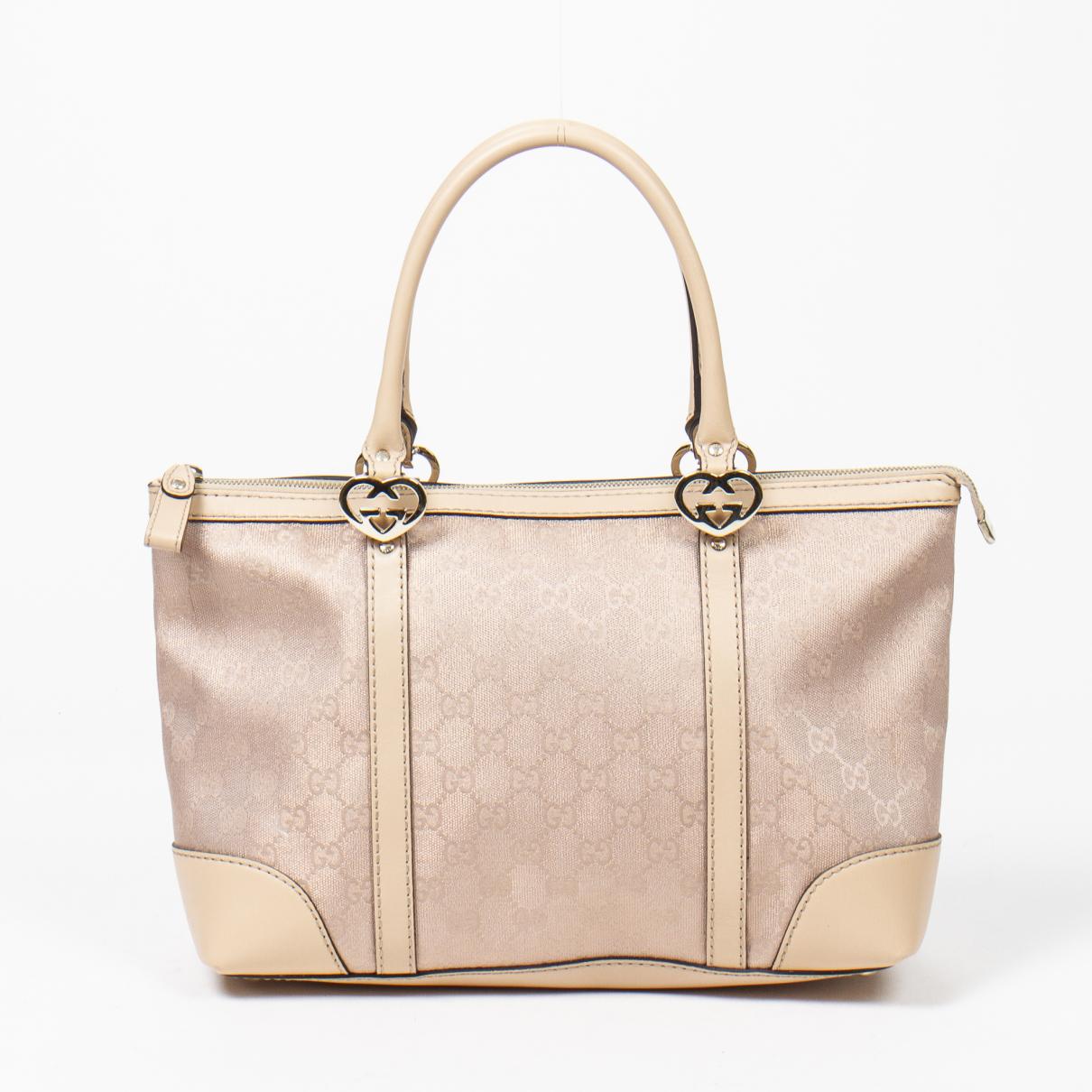 Gucci Interlocking Handtasche in Baumwolle