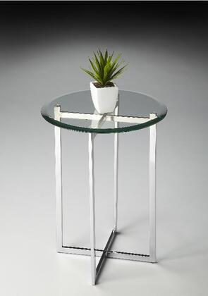 Finn Collection 2385220 Accent Table with Modern Style  Round Shape and Stainless Steel Material in Nickel
