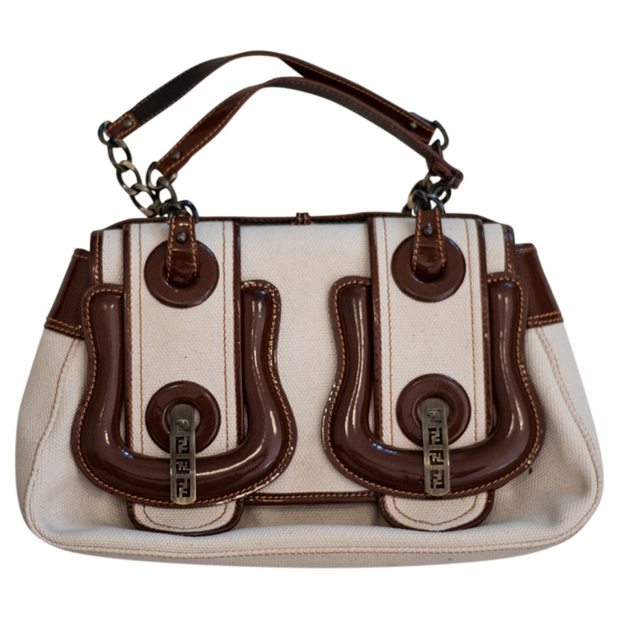Fendi B Bag Ecru Cloth handbag for Women \N